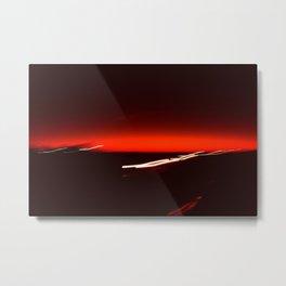 Night Lights Texas Drive-by Metal Print