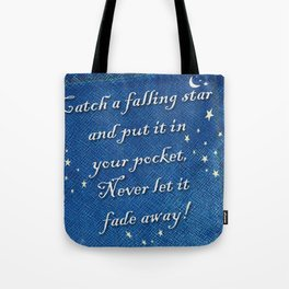 Catch a Falling Star - Blue Geni-ism Series Tote Bag