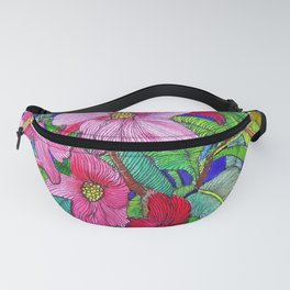 Pink Flowers Fanny Pack