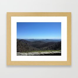 Blue Ridge Parkway Stone Overlook Framed Art Print