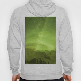 Abstract yellow Northern Lights stripes Hoody