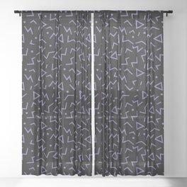 Memphis Pattern 15 - 80s Retro Sheer Curtain