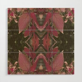 Red Shiso Warm Tones Pattern Wood Wall Art