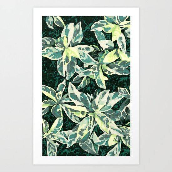 Aloha Leaves Art Print