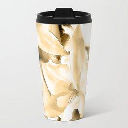 Cascading orchids - Tan Travel Mug