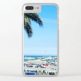 Port de Barcelona Clear iPhone Case