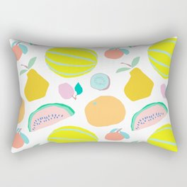 Minimalist Fruit Salad Rectangular Pillow