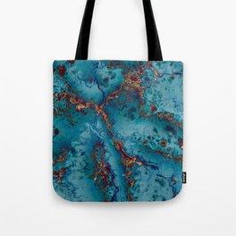 Blue fantasy marble Tote Bag