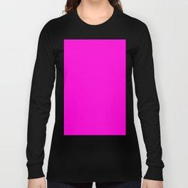Fluorescent Neon Hot Pink Long Sleeve T-shirt