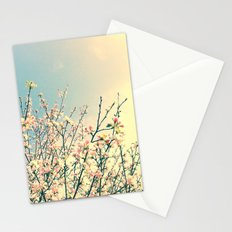Bloom Pink Flowers Stationery Cards