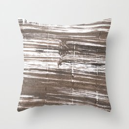 Umber abstract watercolor background Throw Pillow