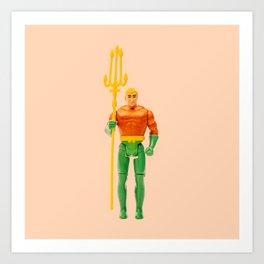 Orange Aquaman Art Print