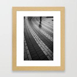 Follow the yellow brick road Framed Art Print