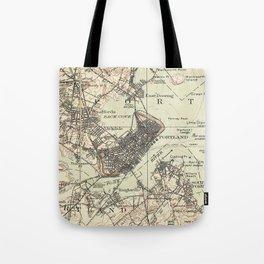 Vintage Map of Portland Maine (1914) Tote Bag