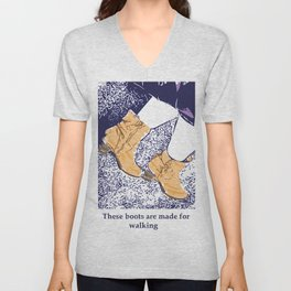 These boots are made for walking Unisex V-Neck