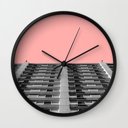 The sky was pink Wall Clock