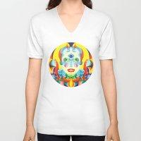 i woke up like this V-neck T-shirts featuring I Woke up like This by Anai Greog