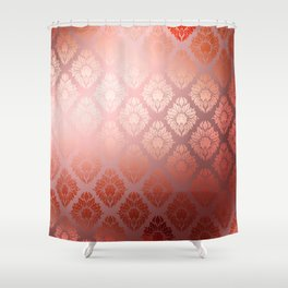 """Millennial Pink Damask Pattern"" Shower Curtain"