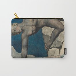 """William Blake """"Antaeus setting down Dante and Virgil in the Last Circle of Hell"""" Carry-All Pouch"""