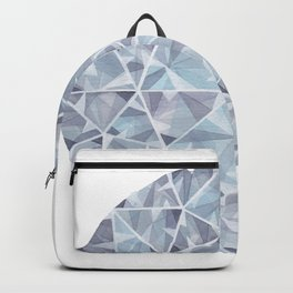 Grey Round Gem Backpack