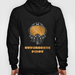 Aviation Clothing, supersonic pilot, high tech helmet. Hoody