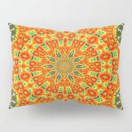 Kaleidoscope of Bold Orange Gazanias  Pillow Sham