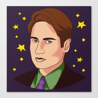 mulder Canvas Prints featuring Mulder Yes by fin apollo