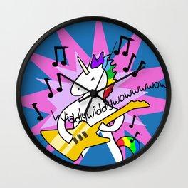 Unicorn Playing Guitar Wall Clock