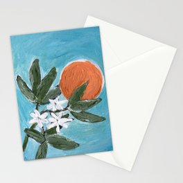 ojai orange Stationery Cards