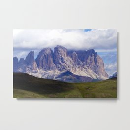Cloudy Mountain Peaks Alpine landscape Metal Print