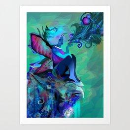 El Aroma del Azul Art Print