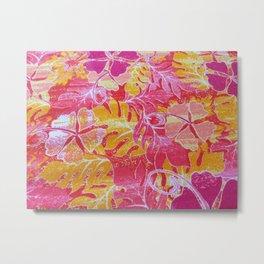FERNS & FLOWERS  Metal Print
