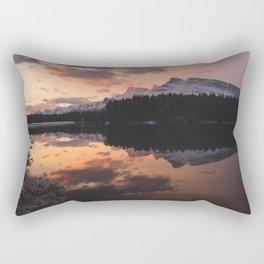 Mount Rundle Rectangular Pillow