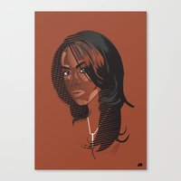 aaliyah Canvas Prints featuring Aaliyah by MRJ_D