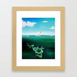 Looming Danger Framed Art Print