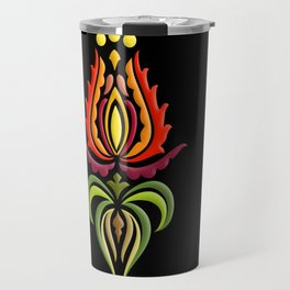 Fancy Mantle on Black Travel Mug