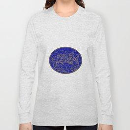 Northern Pike Fish Oval Mono Line Long Sleeve T-shirt