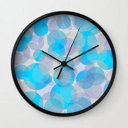 Blue circles pattern Wall Clock