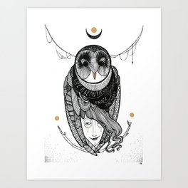 bird women Art Print