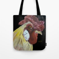 chicken Tote Bags featuring Chicken by When Ed jogs