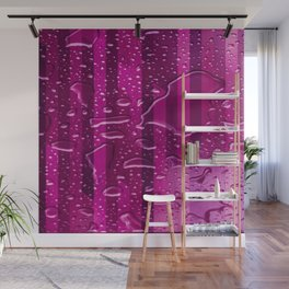 Wet Stripes,pink Wall Mural