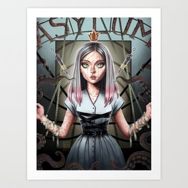 Karolina Syrine of the Grey City Art Print