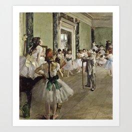 Edgar Degas - The Ballet Class Kunstdrucke