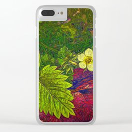 Wild Strawberry Plant Clear iPhone Case