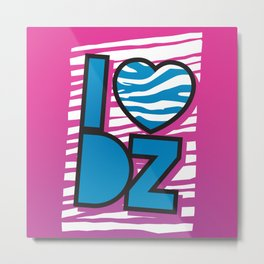 I Heart DZ Metal Print