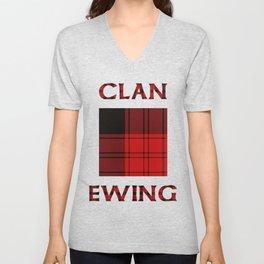 Clan Ewing Tartan Unisex V-Neck