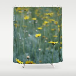 Little Yellow Daisy Shower Curtain