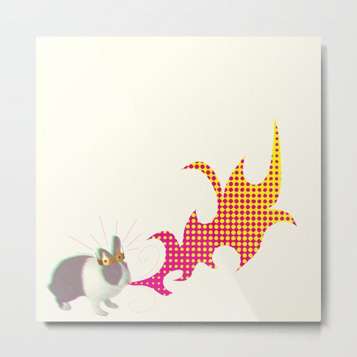 Rabbit King Metal Print