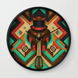 Geometric Guitar Wall Clock
