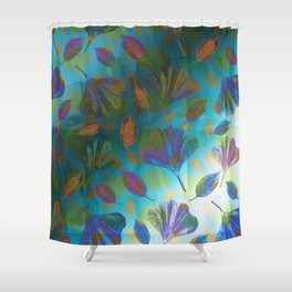 Ginkgo Leaves Under Water Shower Curtain